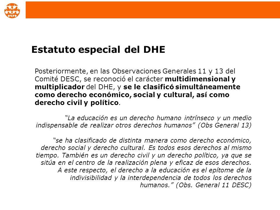 Estatuto especial del DHE