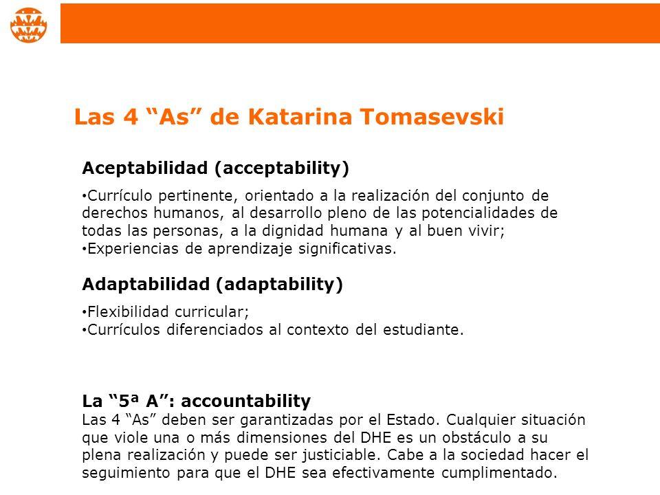 Las 4 As de Katarina Tomasevski