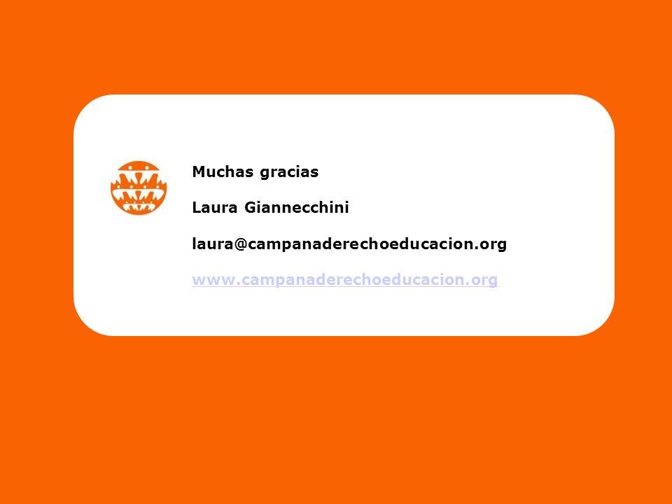 Muchas gracias Laura Giannecchini laura@campanaderechoeducacion.org