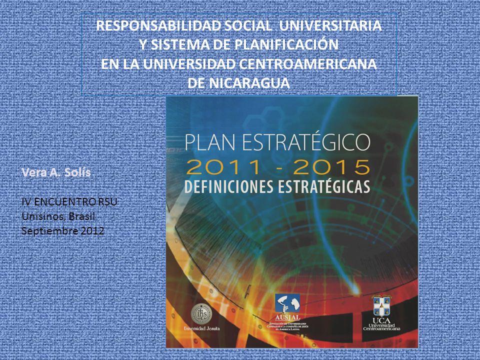 RESPONSABILIDAD SOCIAL UNIVERSITARIA Y SISTEMA DE PLANIFICACIÓN