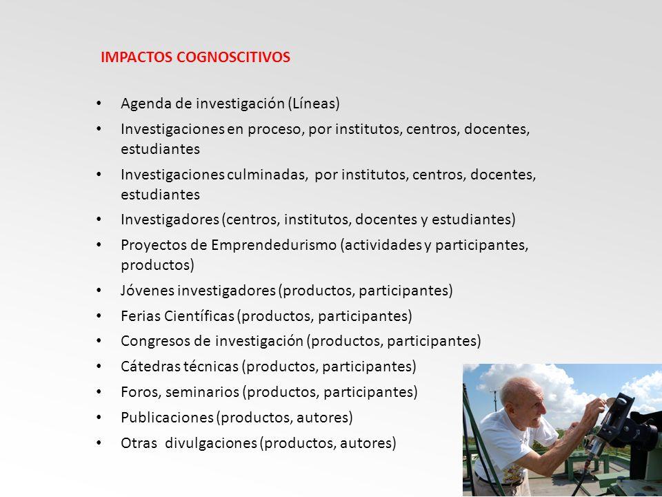 IMPACTOS COGNOSCITIVOS