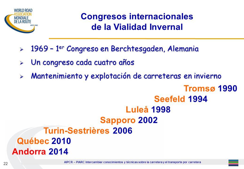 Congresos internacionales de la Vialidad Invernal