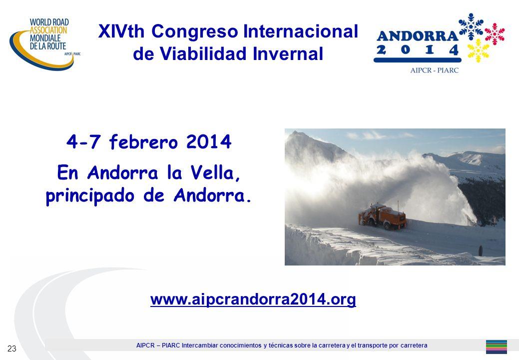 XIVth Congreso Internacional de Viabilidad Invernal