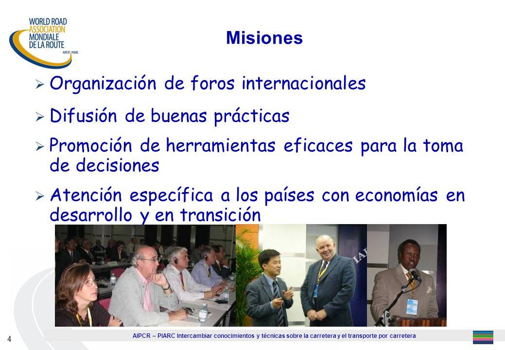 Organización de foros internacionales Difusión de buenas prácticas