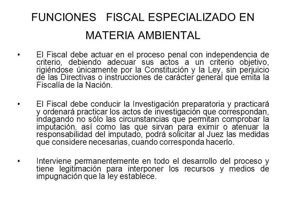 FUNCIONES FISCAL ESPECIALIZADO EN MATERIA AMBIENTAL