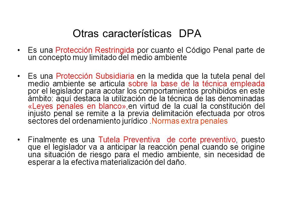 Otras características DPA