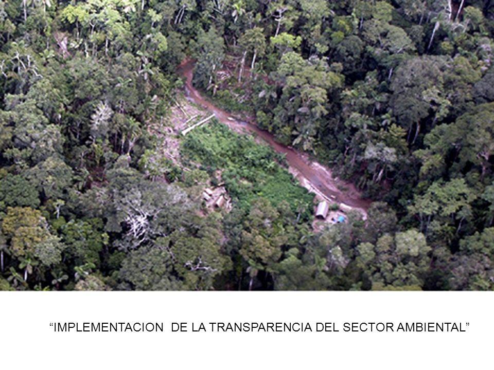 IMPLEMENTACION DE LA TRANSPARENCIA DEL SECTOR AMBIENTAL