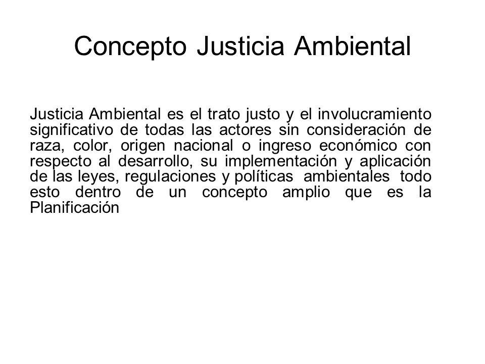 Concepto Justicia Ambiental