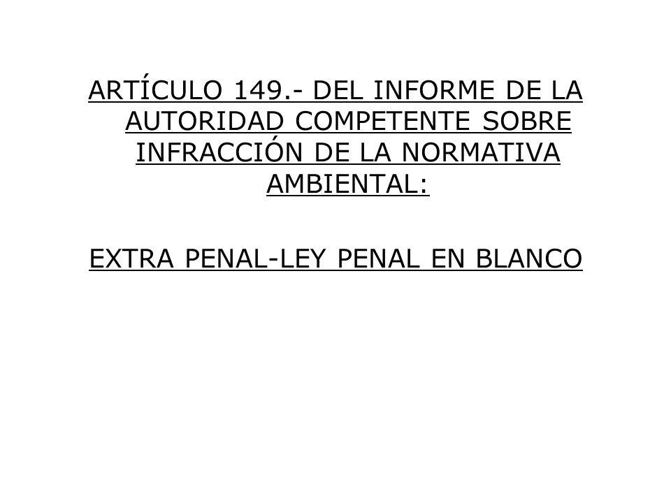 EXTRA PENAL-LEY PENAL EN BLANCO