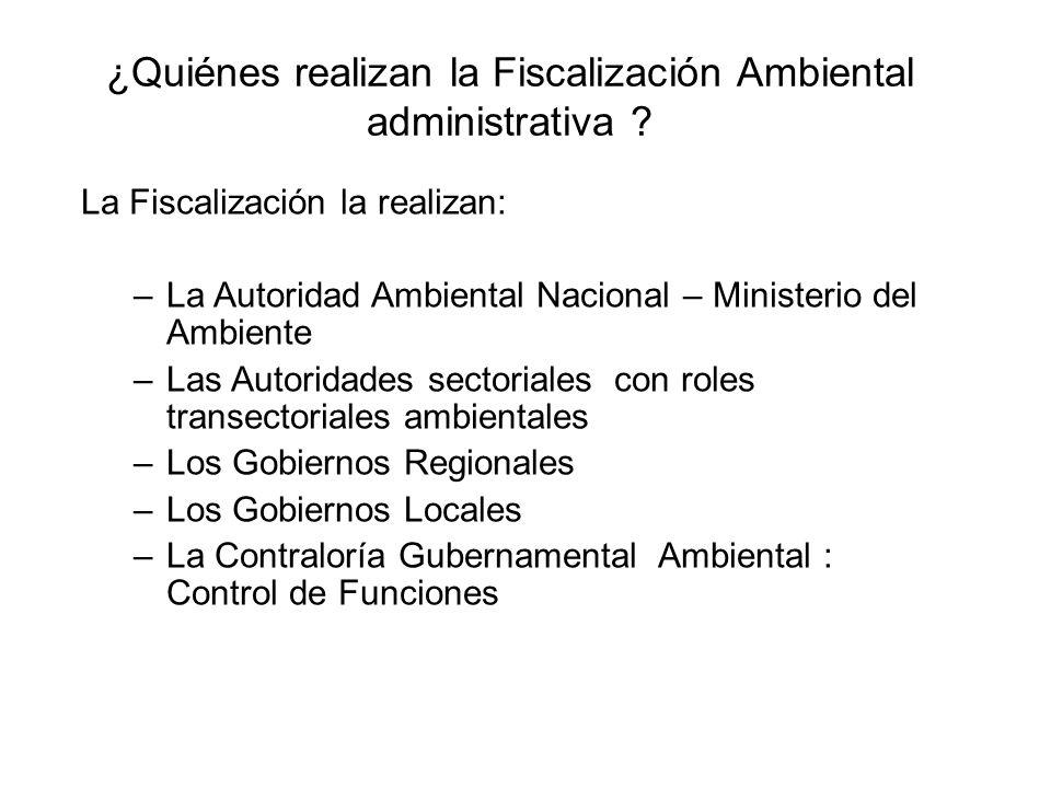 ¿Quiénes realizan la Fiscalización Ambiental administrativa