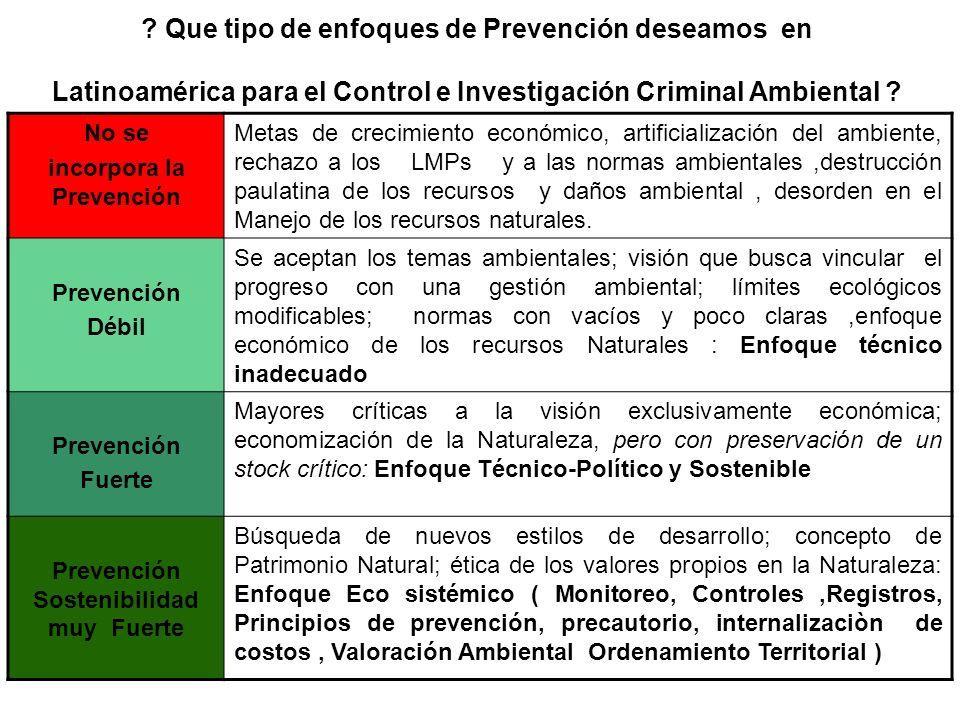 incorpora la Prevención Prevención Sostenibilidad muy Fuerte