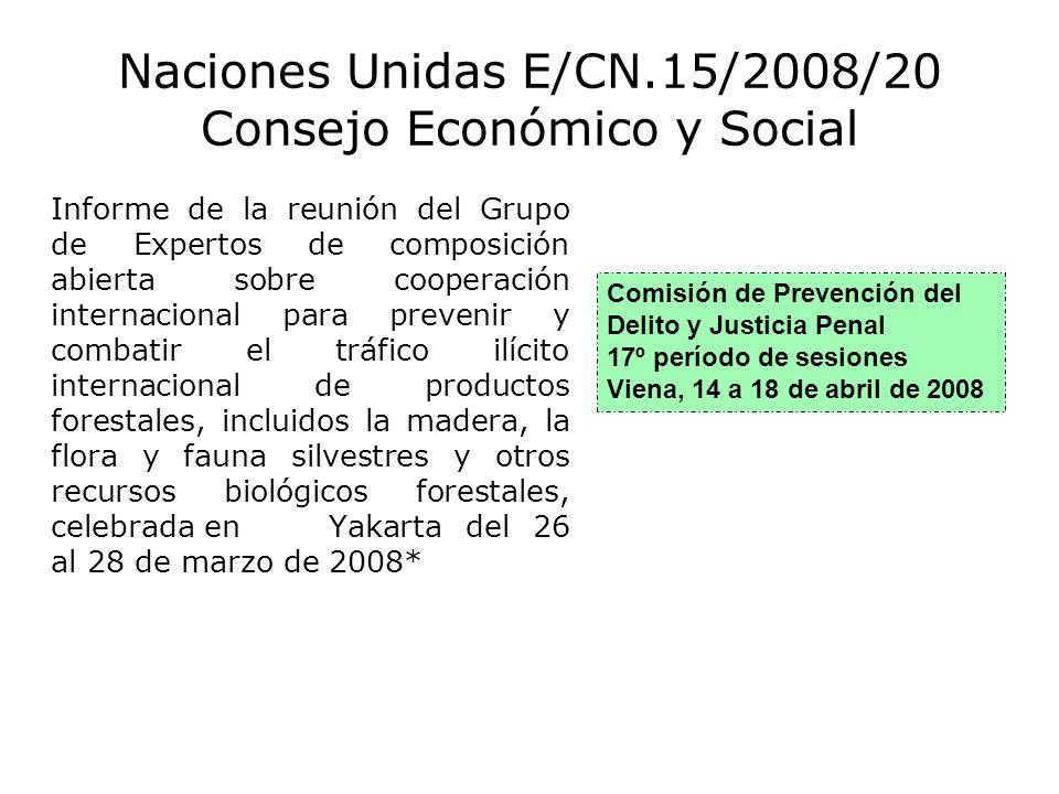 Naciones Unidas E/CN.15/2008/20 Consejo Económico y Social