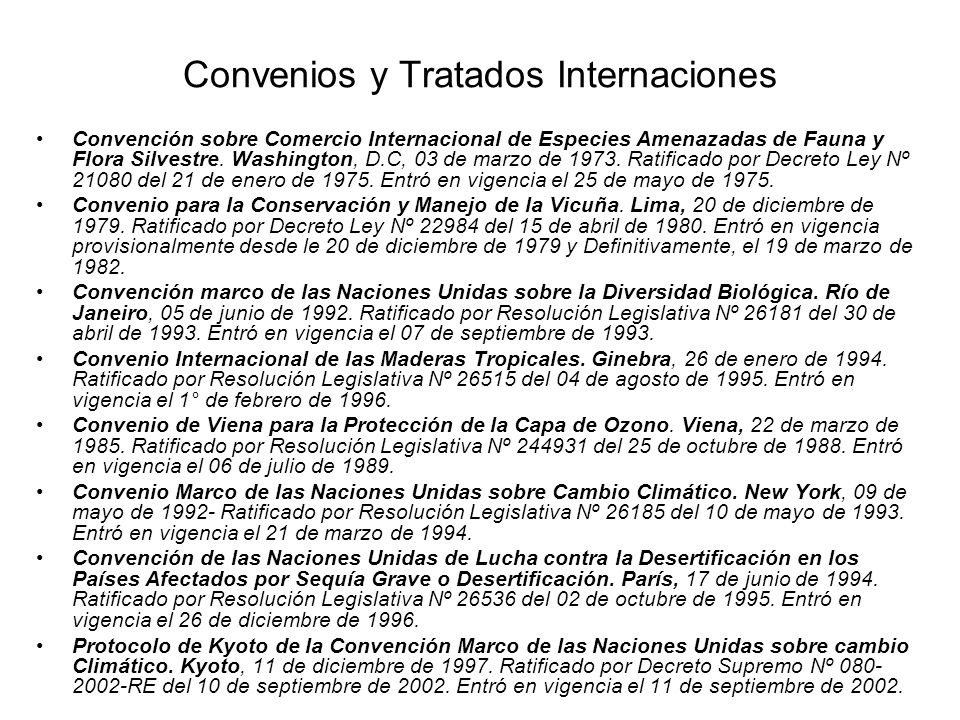 Convenios y Tratados Internaciones