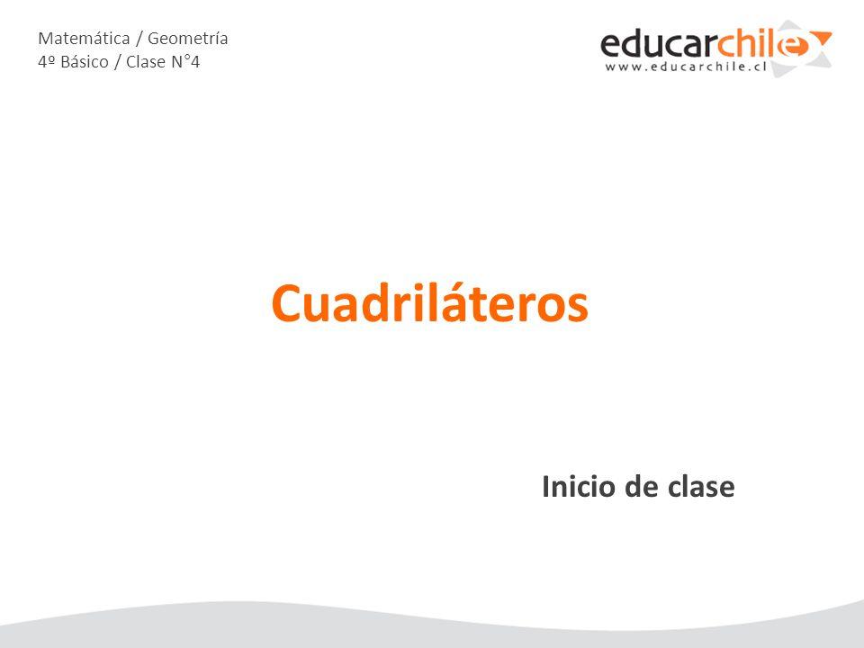 Matemática / Geometría 4º Básico / Clase N°4