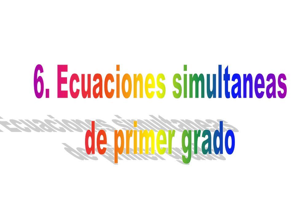 6. Ecuaciones simultaneas