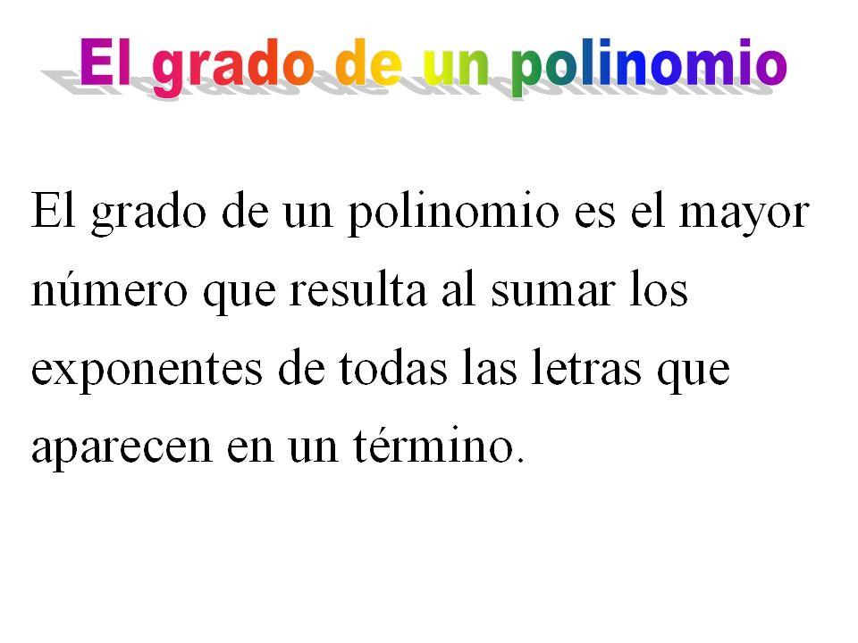 El grado de un polinomio