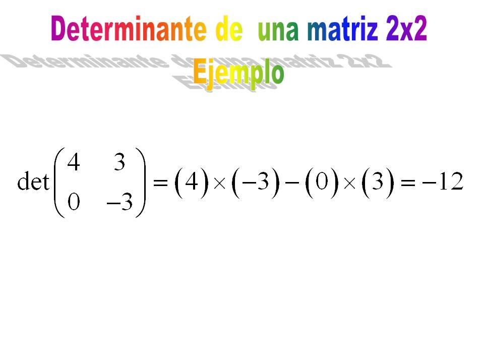 Determinante de una matriz 2x2