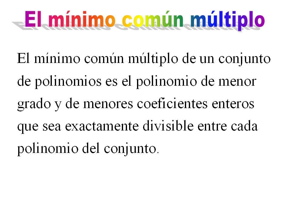 El mínimo común múltiplo