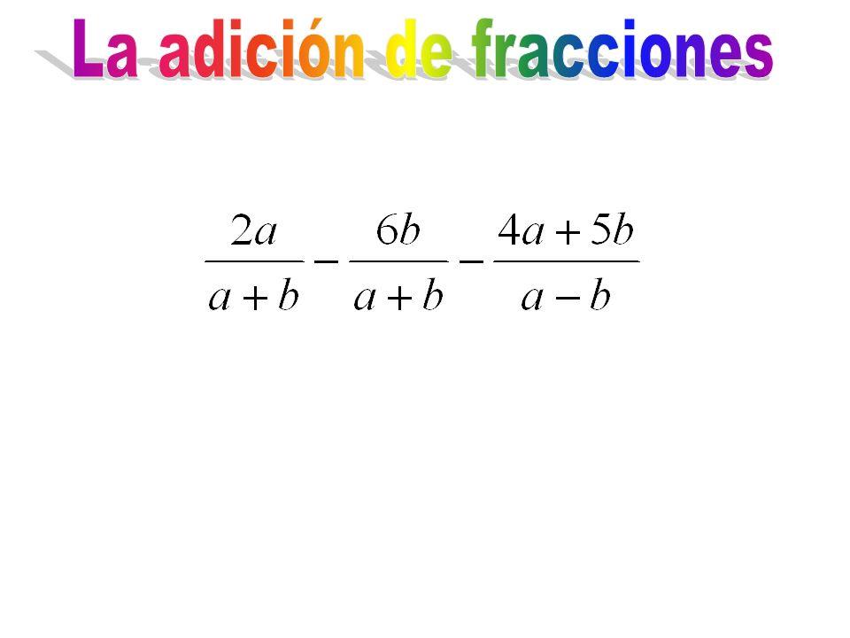 La adición de fracciones