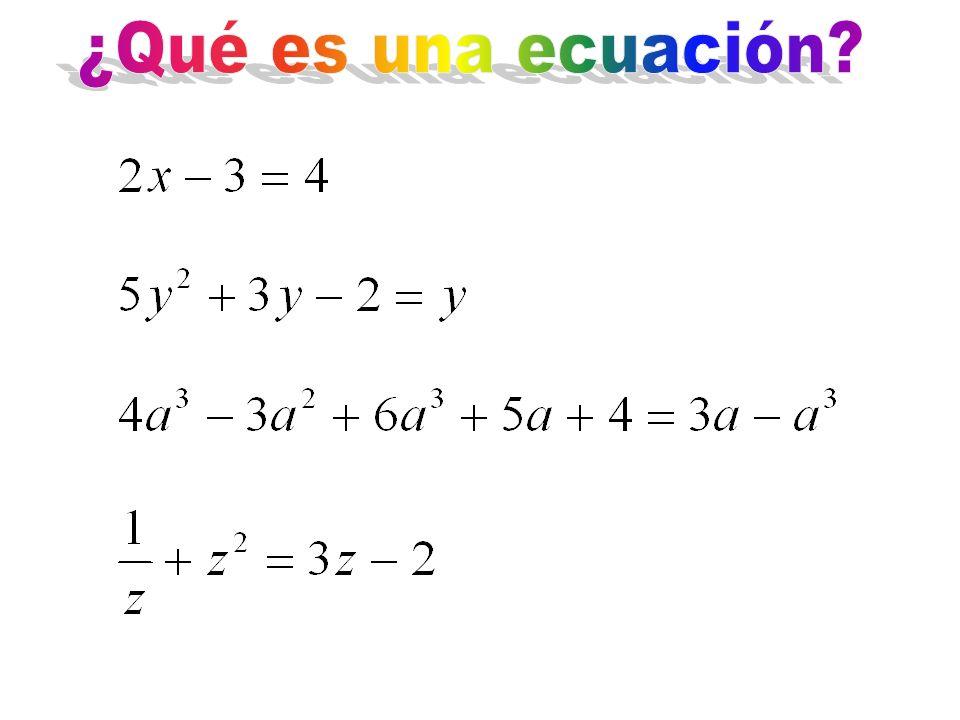 ¿Qué es una ecuación