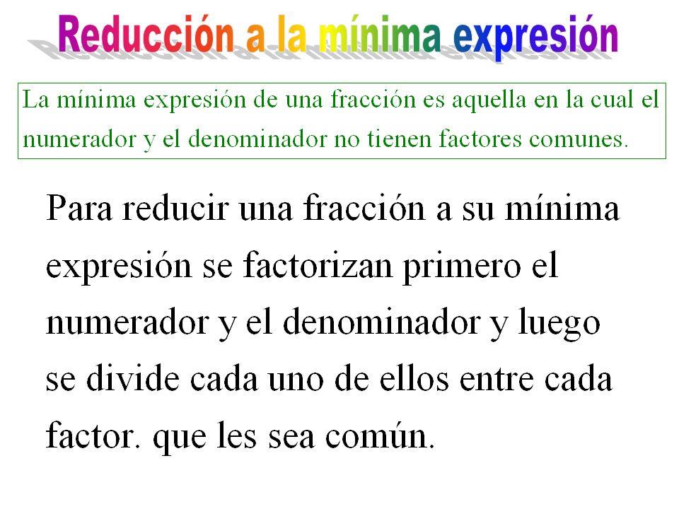 Reducción a la mínima expresión