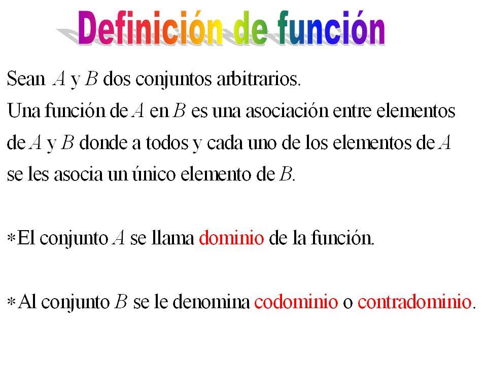 Definición de función