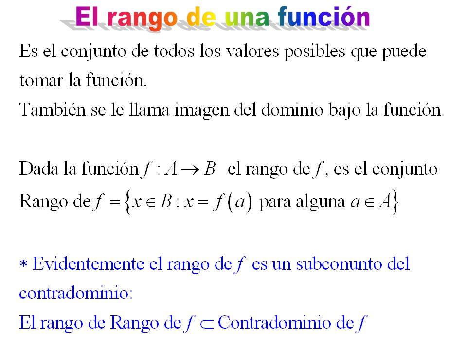 El rango de una función