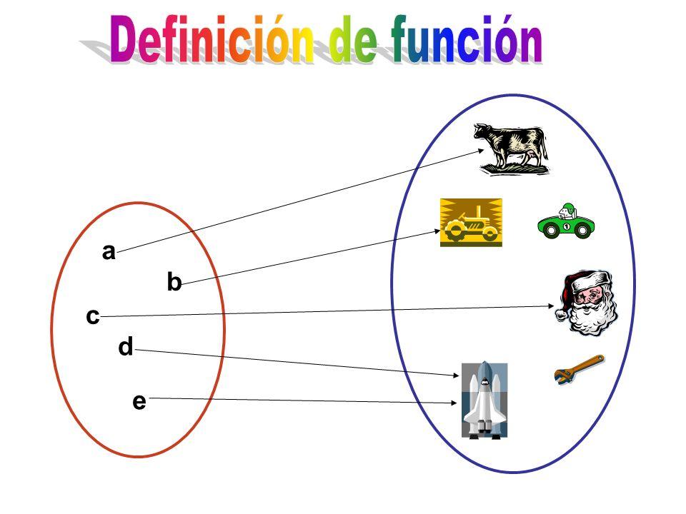 Definición de función a b c d e