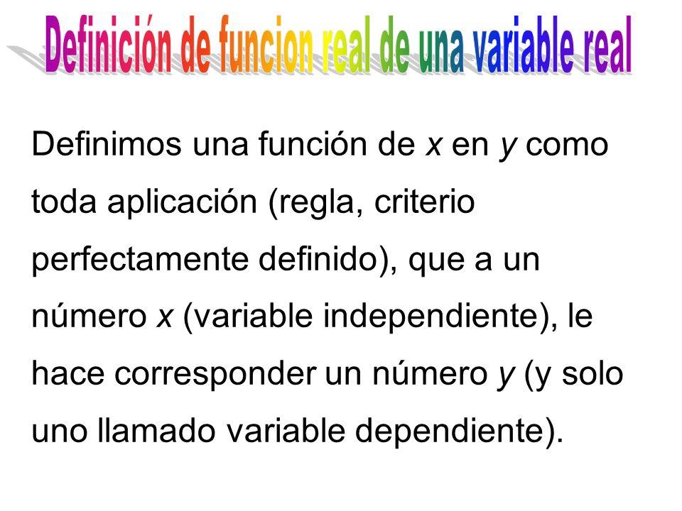 Definición de funcion real de una variable real