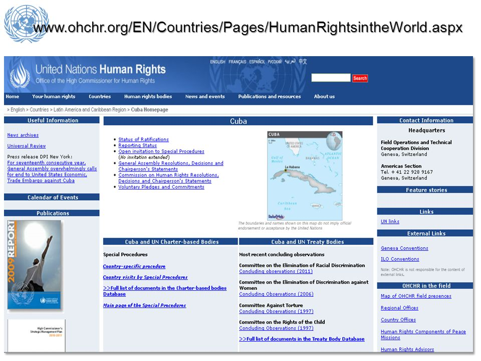 www.ohchr.org/EN/Countries/Pages/HumanRightsintheWorld.aspx