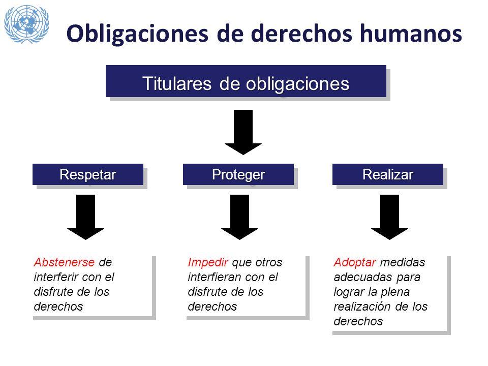 Obligaciones de derechos humanos