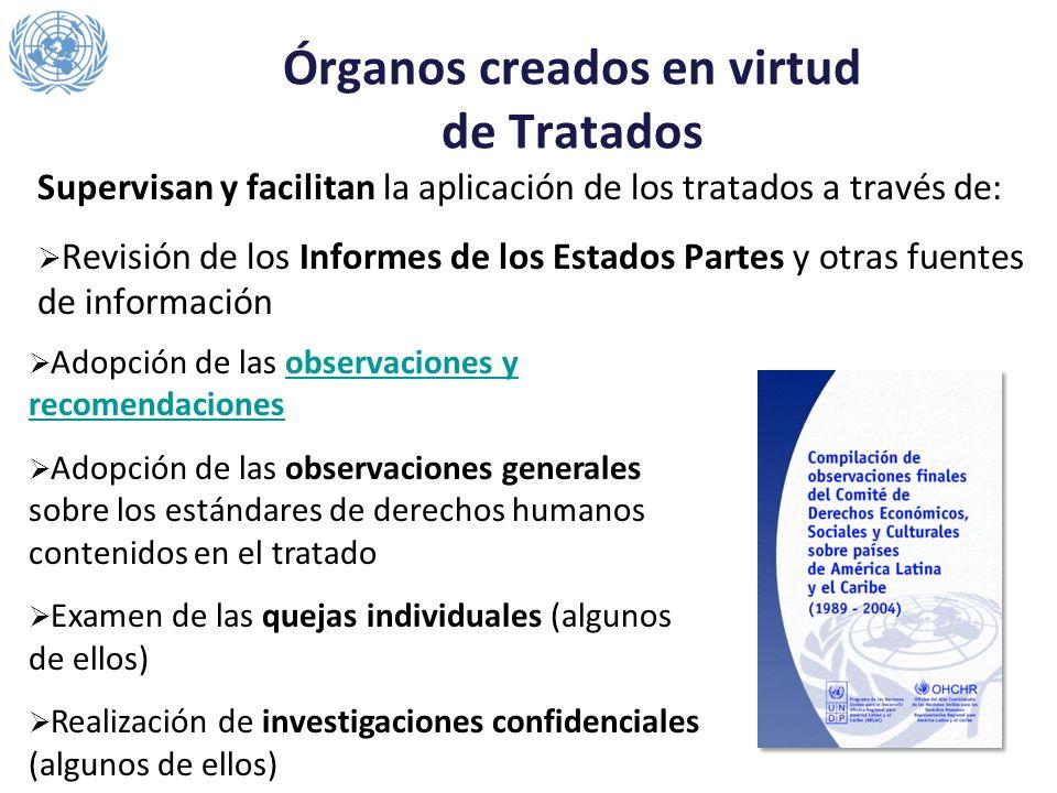 Órganos creados en virtud de Tratados