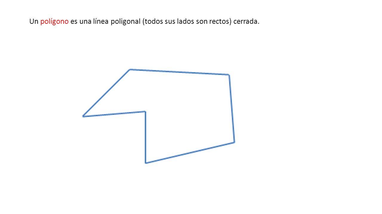 Un polígono es una línea poligonal (todos sus lados son rectos) cerrada.