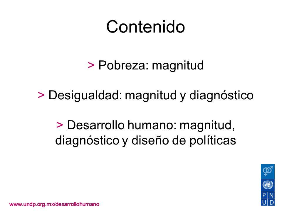 Contenido > Pobreza: magnitud > Desigualdad: magnitud y diagnóstico > Desarrollo humano: magnitud, diagnóstico y diseño de políticas