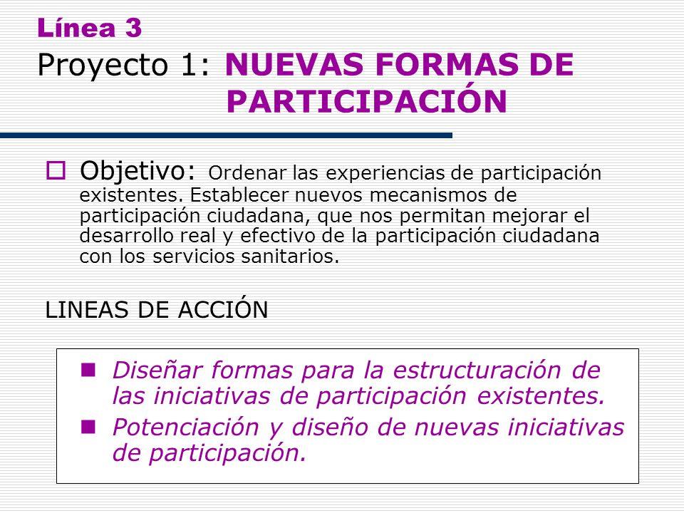 Línea 3 Proyecto 1: NUEVAS FORMAS DE PARTICIPACIÓN