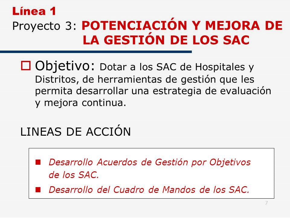 Línea 1 Proyecto 3: POTENCIACIÓN Y MEJORA DE LA GESTIÓN DE LOS SAC