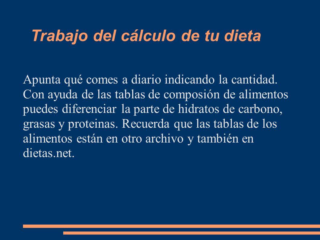 Nutrici n la nutrici n se ocupa de la composici n y - Alimentos hidratos de carbono tabla ...