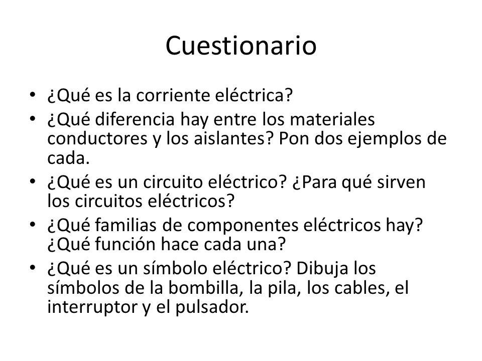 Circuito Que Tenga Un Interruptor Una Pila Y Una Bombilla : Circuitos elÉctricos ppt descargar