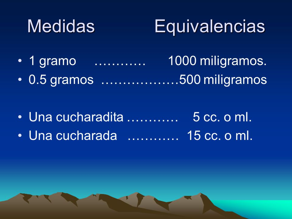 Medidas Equivalencias