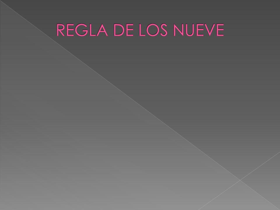 REGLA DE LOS NUEVE