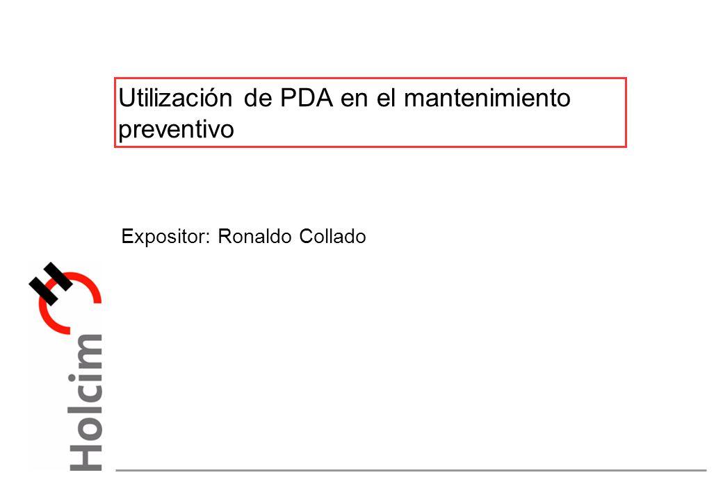 Utilización de PDA en el mantenimiento preventivo