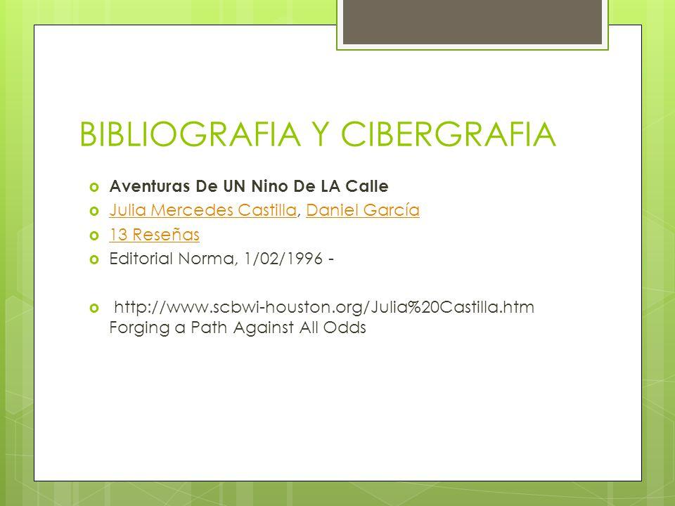 BIBLIOGRAFIA Y CIBERGRAFIA