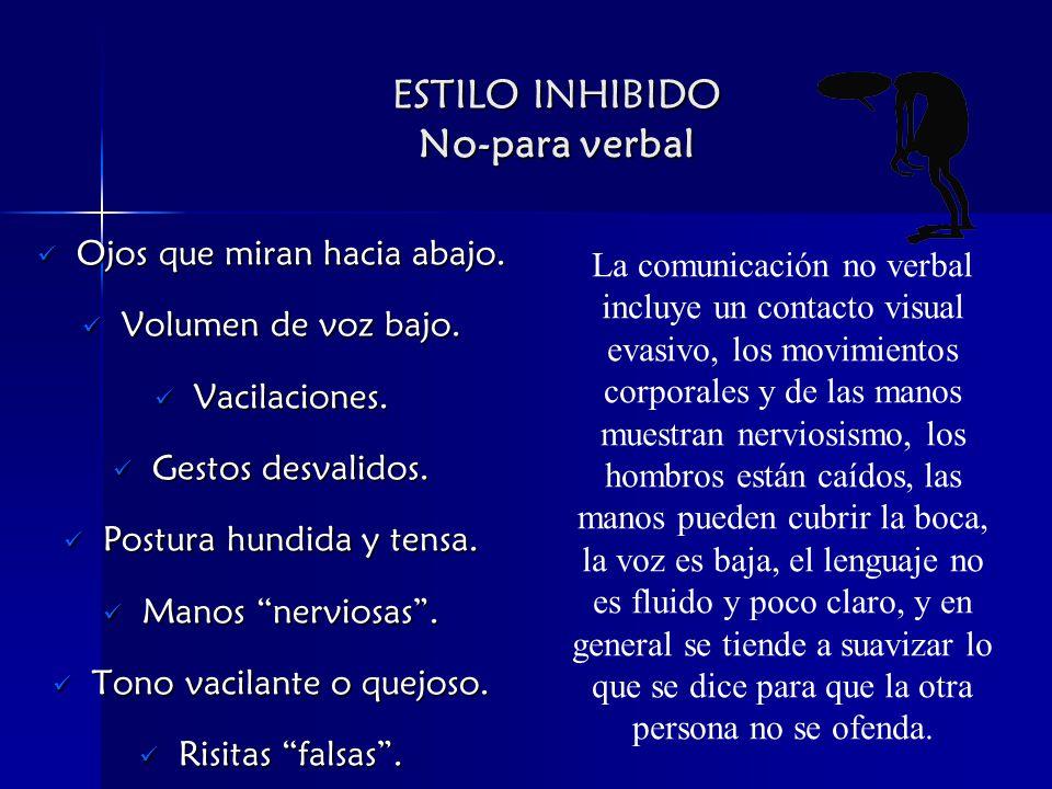 ESTILO INHIBIDO No-para verbal