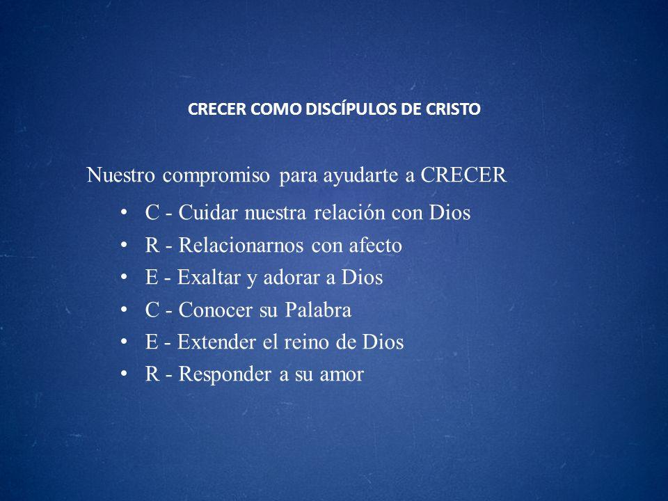 CRECER COMO DISCÍPULOS DE CRISTO