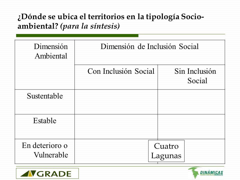 Dimensión de Inclusión Social