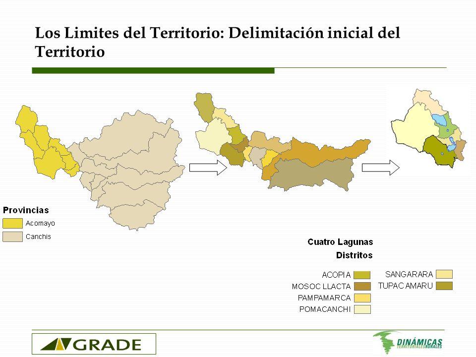 Los Limites del Territorio: Delimitación inicial del Territorio
