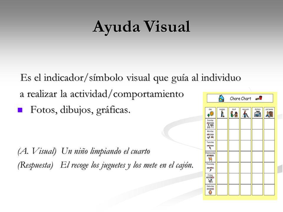 Ayuda Visual Es el indicador/símbolo visual que guía al individuo