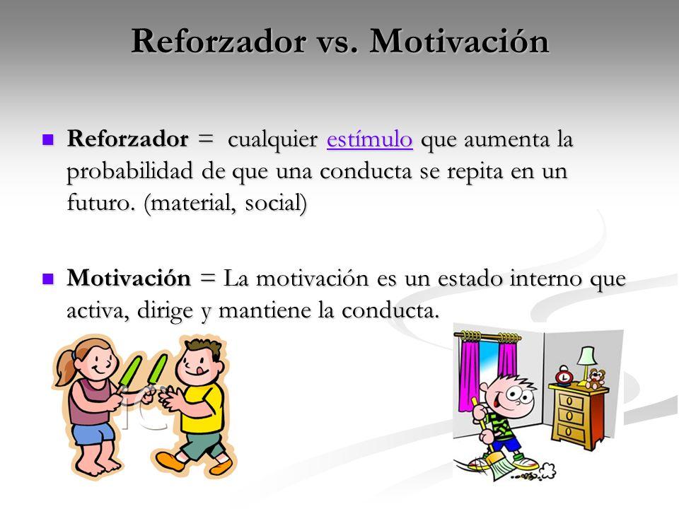 Reforzador vs. Motivación