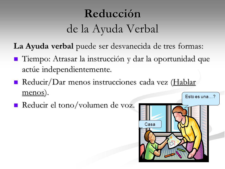Reducción de la Ayuda Verbal