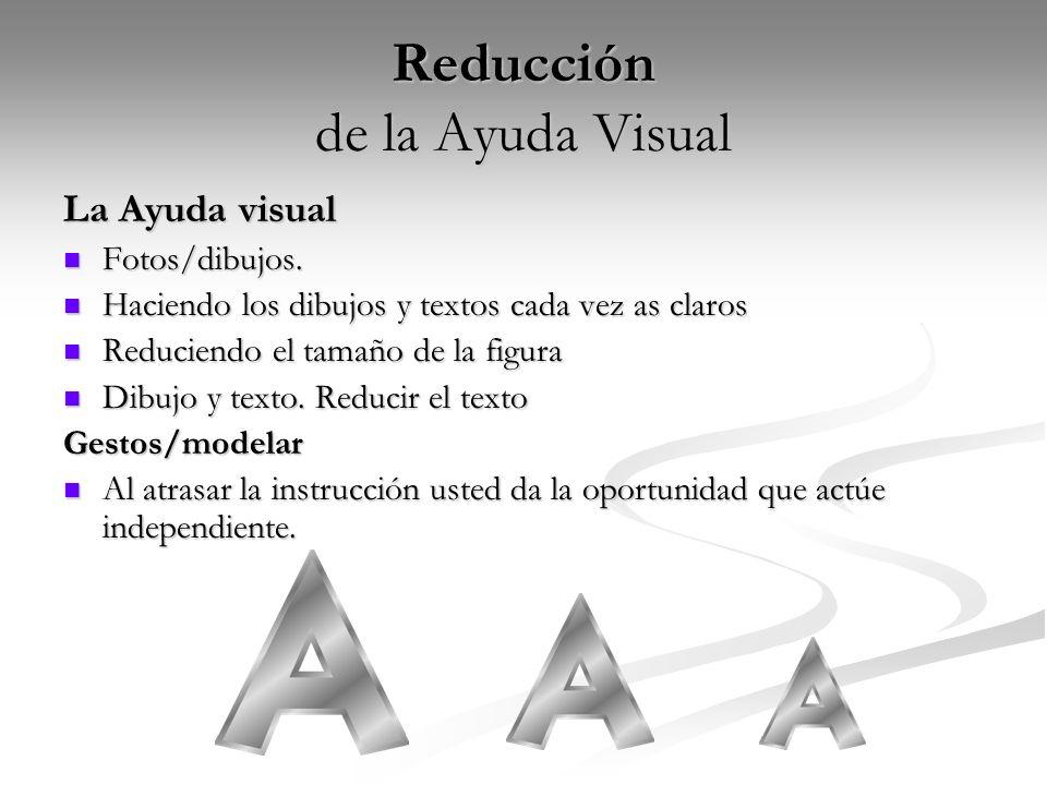 Reducción de la Ayuda Visual